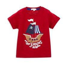 Honeyzone/футболка для маленьких мальчиков; детская одежда из хлопка с принтом пирата; одежда для малышей с короткими рукавами
