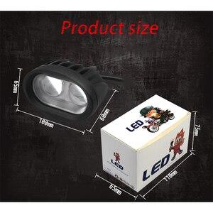 Image 3 - 작업 빛 20W LED Sopot 램프 6D 운전 트럭 12V 24V 보조 유니버설 앰버 옐로우 화이트 오프로드 오토바이 개조