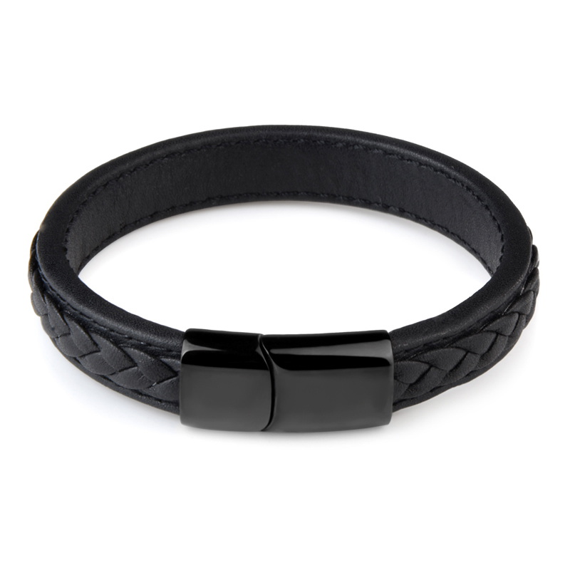 New Fashion Genuine Leather Braid Bracelet Magnetic Buckle Clasps Vintage Women Men Bracelets & Bangles Men Jewelry