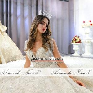 Image 2 - 2020 אוסף אמנדה novias מותג אמיתי עבודה חתונת שמלת כלה שמלה