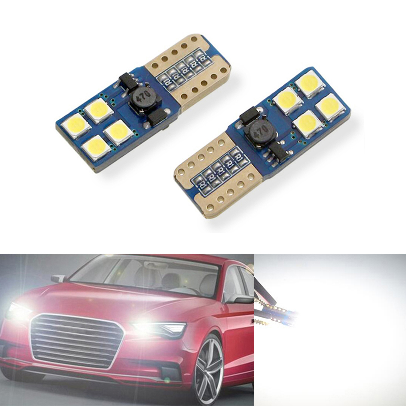 2x T10 LED W5W Samsung Car LED Auto Lamp Light Bulbs For <font><b>AUDI</b></font> A2 A3 8L 8P A4 B5 B6 A6 4B 4F <font><b>A8</b></font> <font><b>D2</b></font> TT C5 C6 image