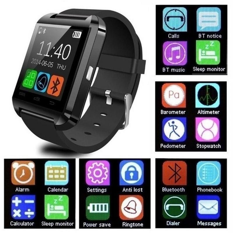 New Smartwatch Bluetooth Smart Watch U8 For IPhone IOS Android Smart Phone Wear Clock Wearable Device Smartwach PK GT08 DZ09 A1