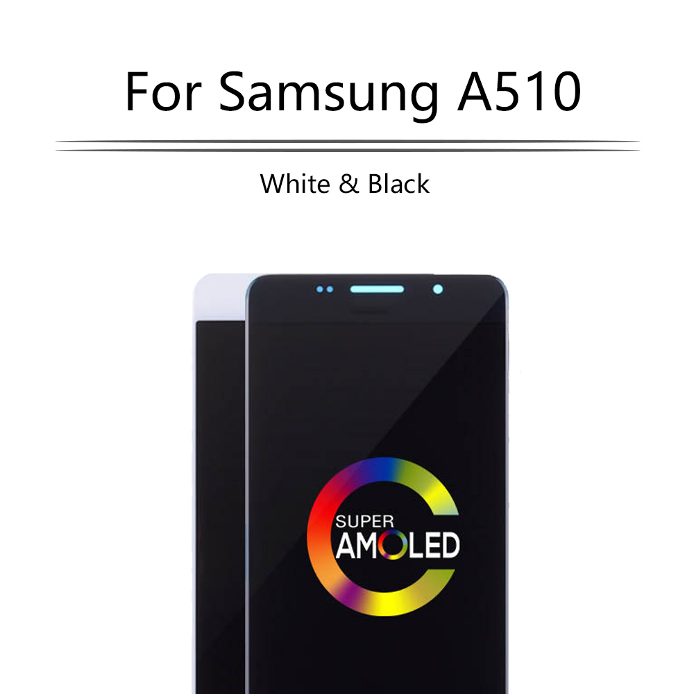 SUPER AMOLED For <font><b>SAMSUNG</b></font> Galaxy A5 2016 A510 <font><b>A510F</b></font> A510M A510FD <font><b>LCD</b></font> Display Touch Screen Digitizer For <font><b>Samsung</b></font> <font><b>A510F</b></font> <font><b>LCD</b></font> Display image