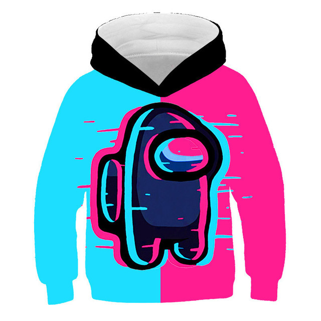 Among Us 3D Cartoon Kids Hoodies Tops For Children Boys Girls Pullovers Outerwear Hoodie Tracksuits Streetwear Coat Clothes New