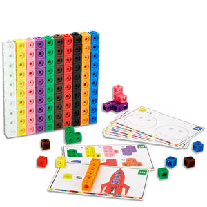 Toy Cubes Stacking-Cube Snap-Blocks Math-Link Early-Education Baby Kids 10-Colors Building-Kit