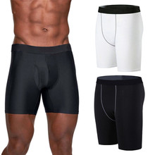 цены Snug Fit Breathable Men Compression Shorts Running Tights Men Quick Dry Gym Fitness Sport Running Male Shorts