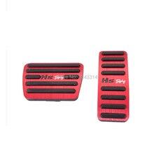 Acessórios do carro para mg hs 2018 2019 2020 pedal freio acelerador resto capa anti skid almofada pé estilo auto adesivo guarnição