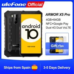 Ulefone Armor X5 Pro прочный водонепроницаемый смартфон 4 Гб + 64 ГБ Android 10,0 мобильный телефон NFC 4G LTE мобильный телефон