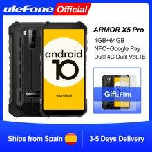 Ulefone Rüstung X5 Pro Robuste Wasserdichte Smartphone 4GB + 64GB Android 10,0 Handy NFC 4G LTE handy