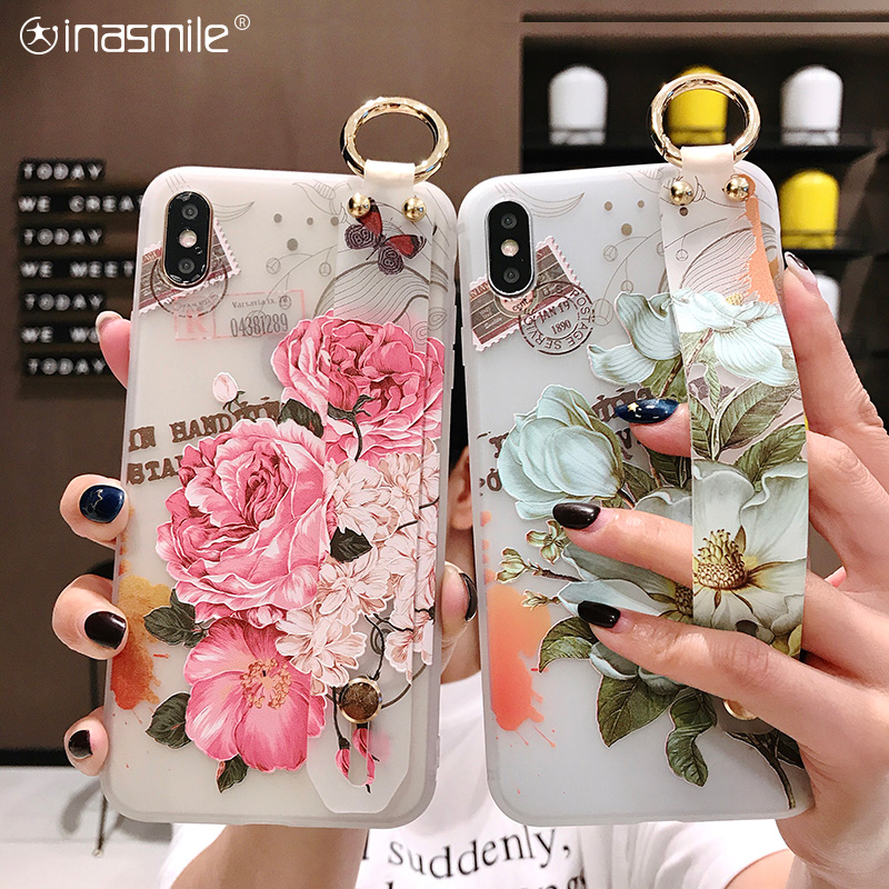 Stylish Wrist Strap Phone Case For Samsung Galaxy S8 S9 S10 Plus Note 8 9 10 A20 A30 A40 A50 A60 A70 M20