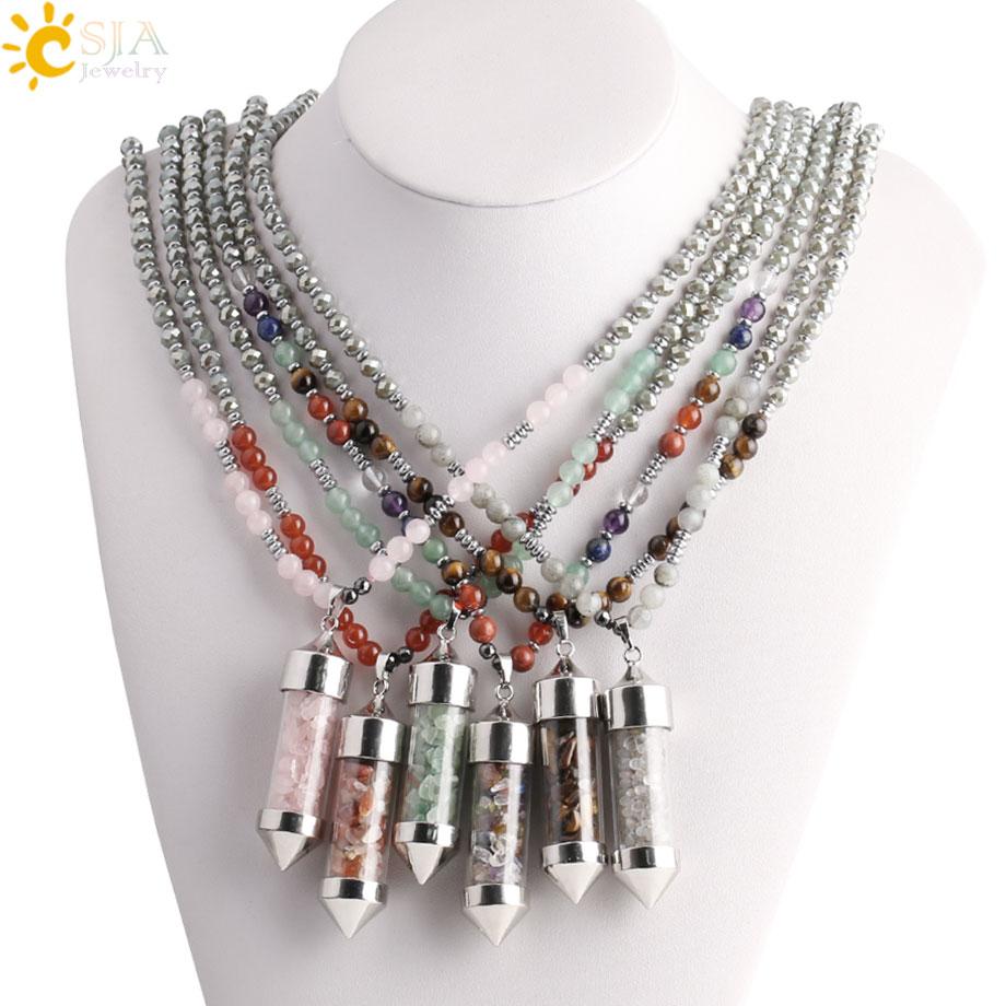 CSJA-Bohemian-Gem-Stones-Natural-Necklaces-for-Femme-Wishing-Bottle-Pendant-Long-Statement-Necklace-Women-Men