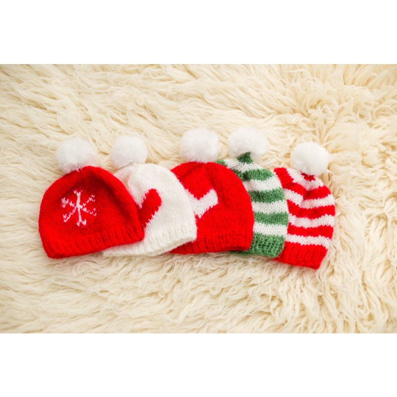 Christmas Nweborn Hat Baby Casual Fitted Baby Accessories Newborn Cartoon Merry Christmas Newborn Photography Props Hat Baby Boy