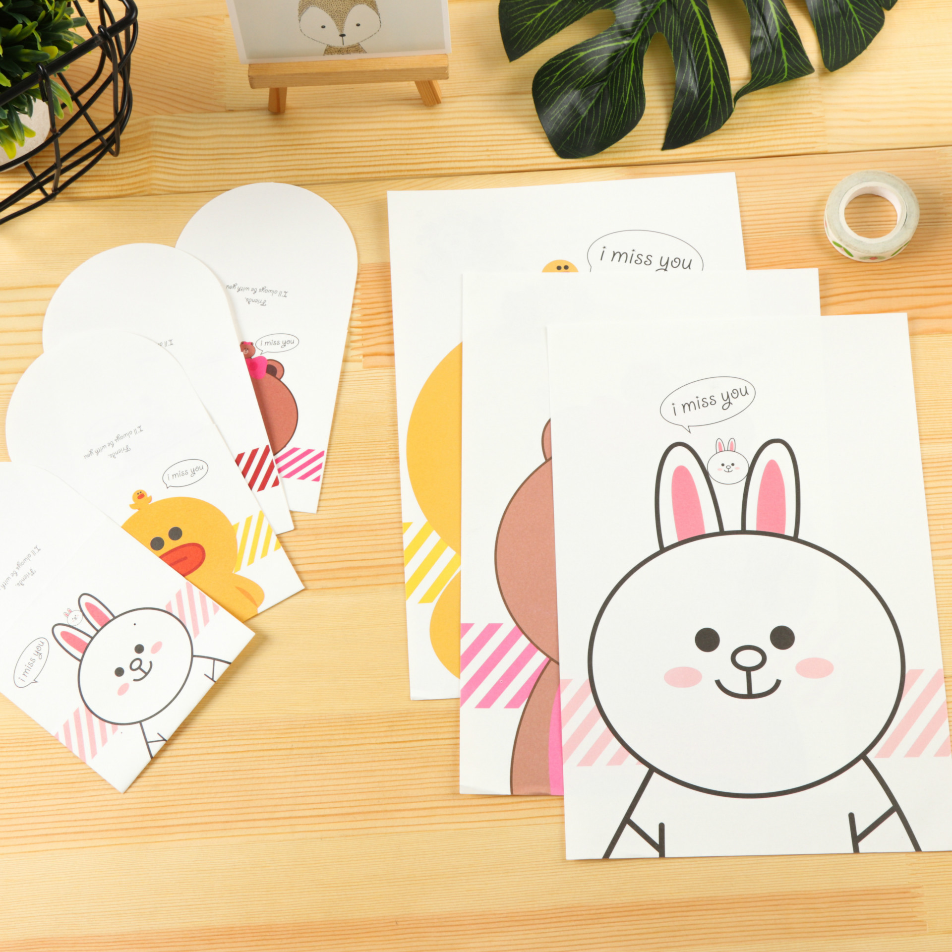 Europe And Korea Stationery Creative Beautiful Hipster Cartoon Writing Paper Envelop Package Cute Love Letter Romantic Writing P
