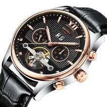 Мужские часы TopBrand роскошные золотые мужские часы полые автоматические механические бизнес водонепроницаемые часы мужские часы Авто Дата