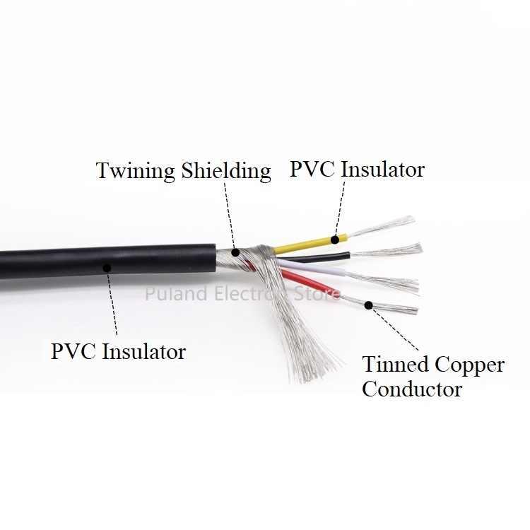 Câble blindé de Signal UL2547 22 24 26 28 AWG PVC isolé 2 3 4 5 noyaux amplificateur Audio fil de cuivre casque bricolage ligne de contrôle