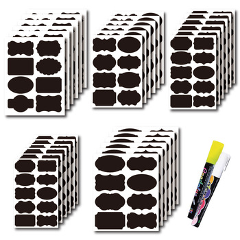 48pcs Jar Stickers Kitchen Label Stickers Blackboard Spice Labels Sticker Kitchen Storage Organizer Bottles Label Chalkboard Tag image