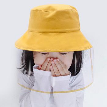 100 bawełna czapka dla dzieci maska dla dzieci maska ochronna ochrona przed wirusami czapka dla niemowląt maska tarcza tanie i dobre opinie COTTON Unisex Stałe Skullies czapki Pure Cotton yellow red black pink purple green beige orange for baby kids boys girls