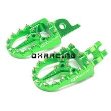 CNC בילט MX רגל יתדות נשענת דוושות Footpegs עבור KX KLX KXF KX250F 2006 2016 KX450F 2007 2016 KLX450R 2008 2013