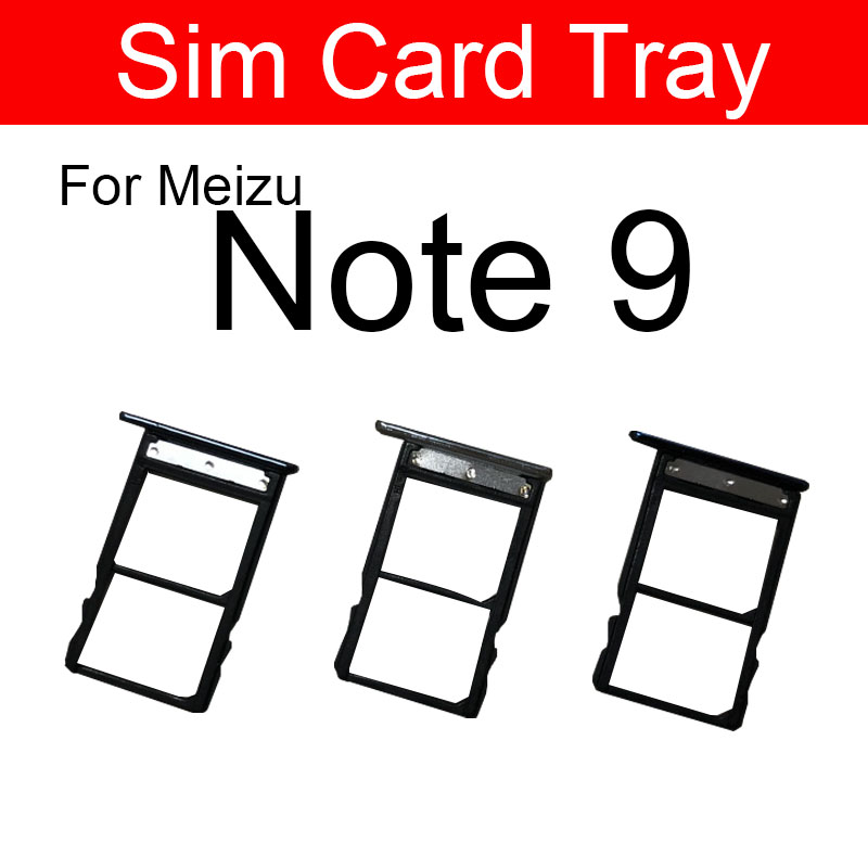 Sim Card Tray Adapter For Meizu Note 9 Note9 M923Q Memory Reader Holder Slot Replacement Repair Parts Blue & Black & Silver