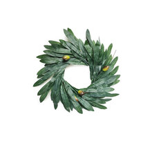 5 Size Artificial Simulation Leaf Olive Ring Atmosphere Decoration Family Wedding Holiday Party Flower Decor