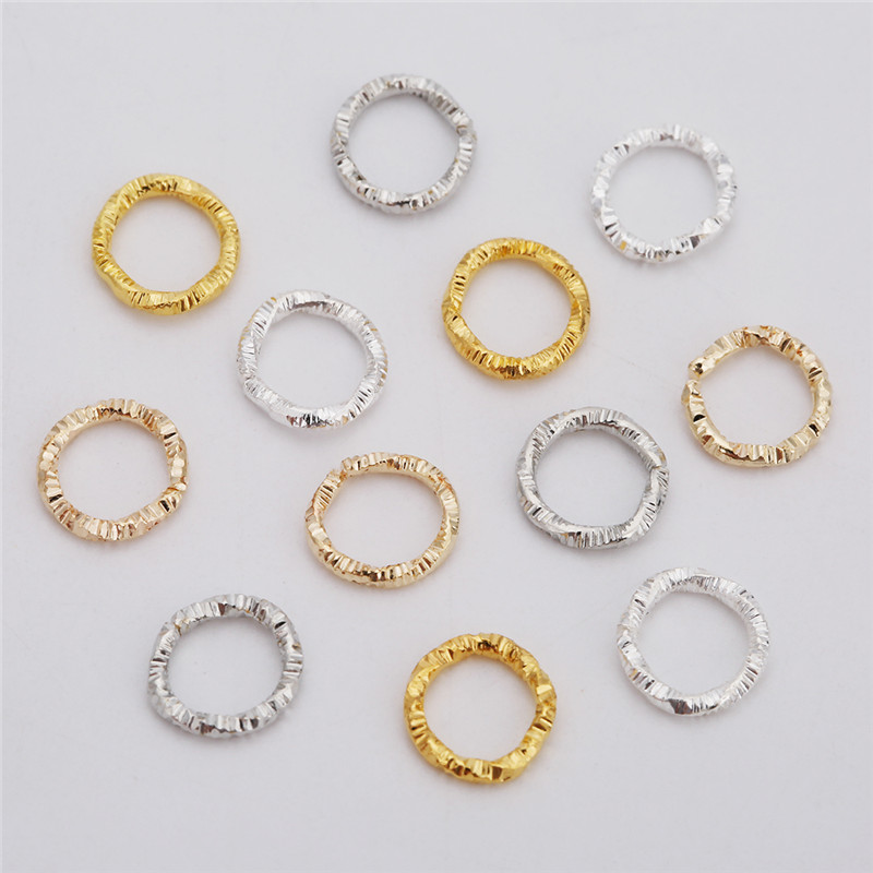 100pcs 8mm 10mm Open Closed Jump Rings Split Rings Gold Silver Color Metal End Connectors Necklace Findings Diy Jewelry Making