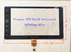 Дигитайзер сенсорного экрана 6,2 дюйма для Pioneer, специальный дигитайзер сенсорного экрана для Pioneer, SPH-Da120