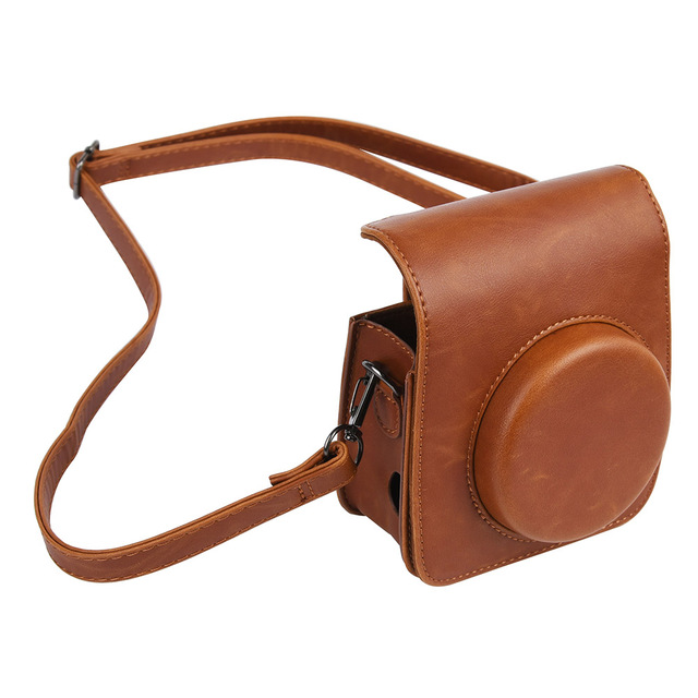 Protective Case Casual Pouch Accessories PU Leather Cover Dustproof Shoulder Strap Crossbody Mini Camera Bag For Instax Mini 90