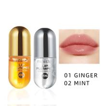 2pcs Moisturizing Plumping Lip Gloss Lip Plumper Ginger Peppermint Lip Extreme Volume Nutritious Lips Enhancer Serum