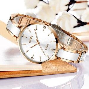 Image 1 - Sunkta relógio feminino relógio de cerâmica feminino simples diamante relógio de moda casual esporte relógio de pulso à prova dwaterproof água relogio feminino
