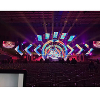p3.91 smd full color 500 x 500mm led board indoor led video wall for concert stage