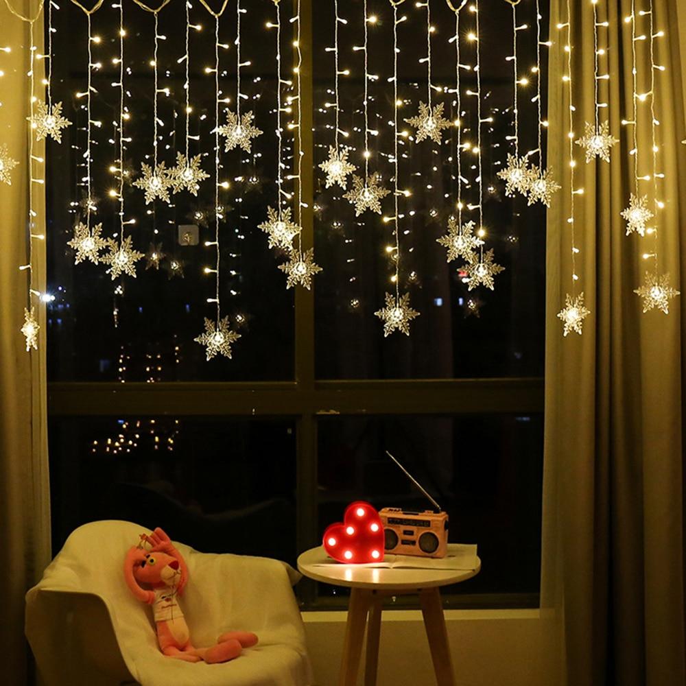 Большая распродажа 3,5 м 96 светильник s светодиодный Шторы светильник на открытом воздухе Рождественский AC220V струнные светильник s Водонепро...