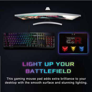 Pokemon Go Gaming Mouse Pad With RGB LED Atmosphere Light Hard Surface / For Gamer Gifts  Mousepad Mice Mat 7 Dazzle Colors 2