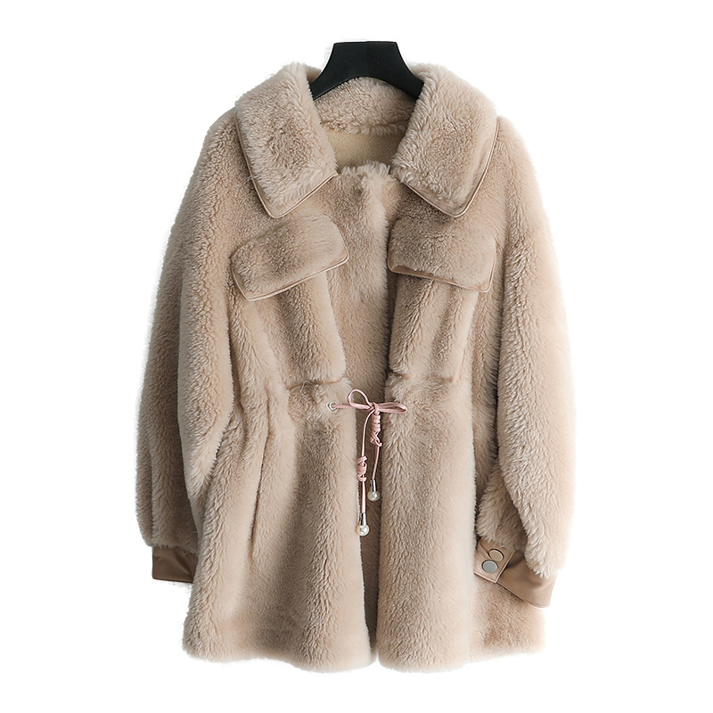 Real Fur Coat Female Jacket Autumn Winter Coat Women Clothes 2020 Korean Vintage Sheep Shearing Wool Jackets Suede Lining ZT3959