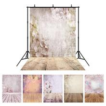 Flower Wooden Floor Photography Backdrops Computer Printed Photoshoot Background for Children Baby Lovers Portrait Phtoto Studio