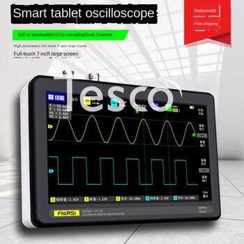 цена на FNIRSI-1013D Digital Tablet Oscilloscope Dual Channel 100M Bandwidth 1GS Sampling Rate Mini Oscilloscope