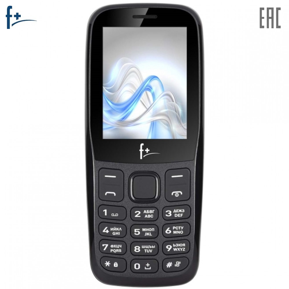 Mobile Phones F+ F256 Black cellular phone cellphone newmodel F 256 2.4'' 240х320 32MB RAM 32MB up to 32GB flash 0.08Mpix 2 Sim BT v2.1 Micro-USB 1000mAh F