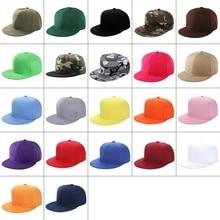 22 Стили Женщины Мужчины Лето Хип Хоп Стиль Бейсболка Кепка Плоский Билл Поля Пустой Сплошной Цвет Регулируемый Размер Классический Snapback