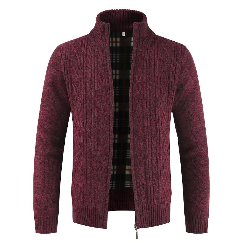 2020 Men Autumn Sweater Coat Thick Casual Sweater Cardigan Men Brand Slim Fit Knitwear Outerwear Warm Winter Sweater Jumper