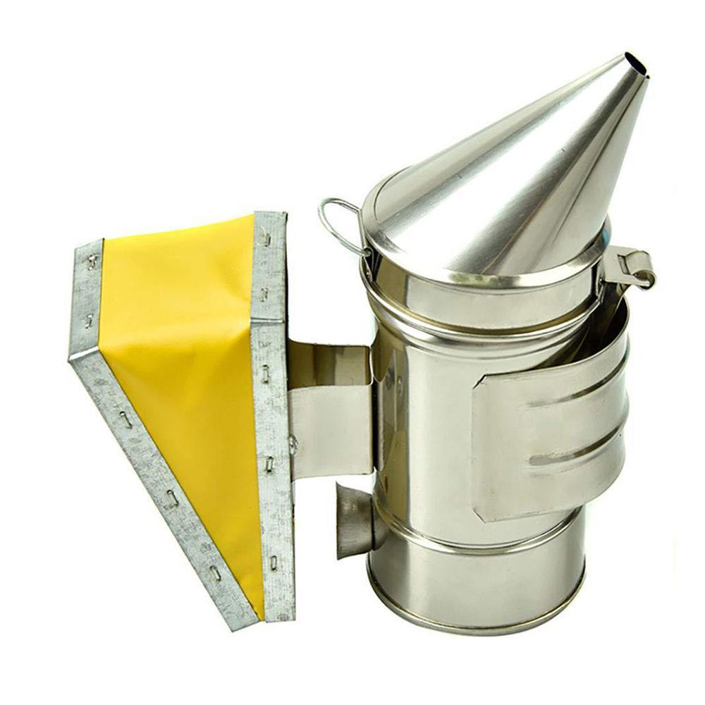 Stainless Steel Smoke Sprayer Mini-sharp Nozzle Rust-proof Durable Smoke Sprayer With Heat Insulation Beekeeping Tools Hot Sale