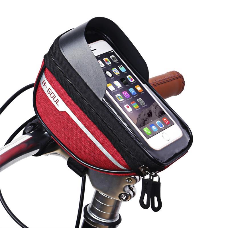 Bicycle Cycling Bike Head Tube Handlebar Phone Bag Case Holder Phone Mount Waterproof Touchscreen MTB Cycling Bag Accessories 5