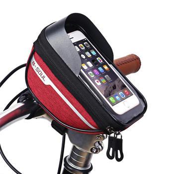 Bicycle Cycling Bike Head Tube Handlebar Phone Bag Case Holder Phone Mount Waterproof Touchscreen MTB Cycling Bag Accessories 10