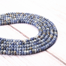 Blue Dot Natural Agate Gem 4X6MM5X8MM Abacus Bead Spacer Bead Wheel Bead Accessory For Jewelry Making Diy Bracelet Necklace