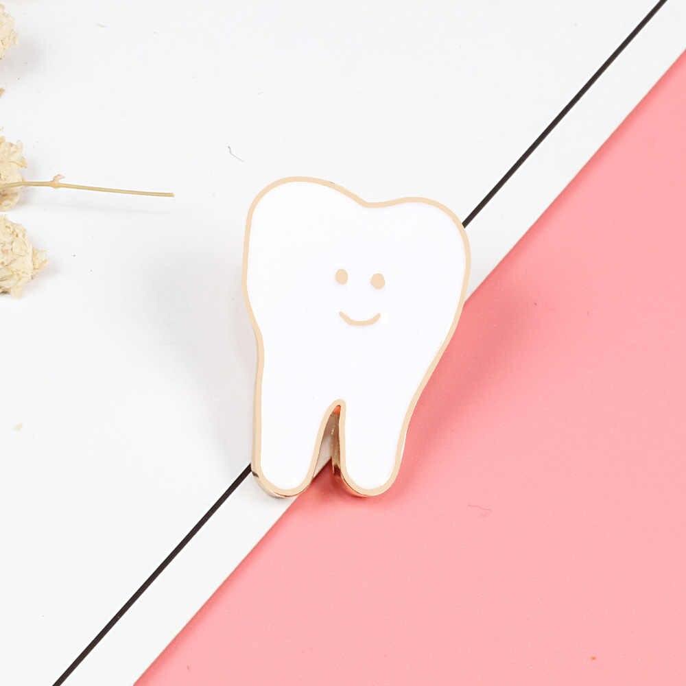 Carino Spille corpo umano spille Spilli dente spilla Distintivo Infermiera medico lavoratore amico giacche di Jeans di modo del sacchetto di gioielli accessori