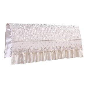 Image 4 - النمط الأوروبي الحرير تشبه غرفة نوم اللوح الأمامي للسرير غطاء حامي السرير البيج