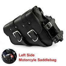 Left Side Single Motorcycle Saddlebag Tool Bag Luggage & Fuel Oil Bottle Holder Waterproof motorcycle side bags saddlebag цена 2017