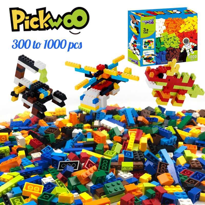 Pickwoo 300 до 1000 шт Классические брендовые строительные блоки город Сделай Сам креативные кирпичи объемные модели фигурки Детские игрушки мале...