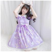 summer Japanese Lolita daily dress cute Pupils style girls Cartoon rabbit
