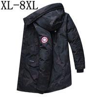 Nice New Long Winter Coat Men Thick Warm Winter Jackets Casual Men Parka Hooded Outwear Cotton padded Jacket Size 7XL 7XL 8XL
