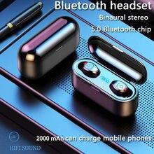 F9 tws bluetooth5.0 fones de ouvido sem fio botão inteligente-controle esporte fone de ouvido música estéreo alta fidelidade ipx6 à prova dwaterproof água