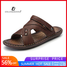 Summer Leather Sandals Men Outdoor Beach Sandals Comfortable